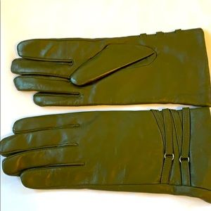 Excelled Women's Gloves leather and cashmere.